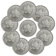 Lot of 10 - 2018 Canada 1 oz. Silver Maple Leaf $5 BU Coins SKU49795