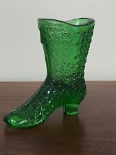 Vintage Pressed Glass VICTORIAN SHOE BOOT~ Moser Glass (Lot1)