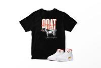 GOAT Graphic T-Shirt To Match Jordan 12 Retro Fiba 100% Cotton Urban