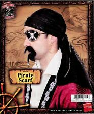 A ADULT HALLOWEEN FANCY DRESS COSTUME LEATHER LOOK  PIRATE SCARF BANDANNA