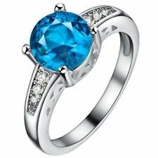 Cubic Zirconia Topaz Fashion Rings
