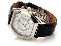 "Calvaneo Vollendete ""PRESTIGE DIAMOND"" Diamanten & Perlmutt Luxus Chronograph"