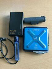 SONY MZ-E44 MiniDisc MD Portable Walkman Player Blue