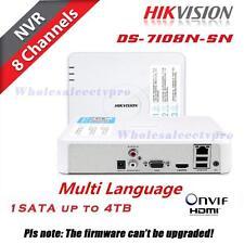 HIKVISION CCTV 8CH DS-7108N-SN NVR HDMI/VGA Smart Mini 1U Network Video Recorder