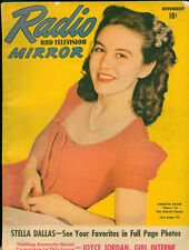 Radio &TV Mirror November 1941 Magazine 11th Superman in Radio serial with art.