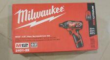 "MILWAUKEE M12 CORDLESS 1/4"" HEX SCREWDRIVER KIT 2401-22"
