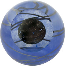 Planet 9 Solar System Glass Eye Studio Celestial Paperweight New 479F Made USA