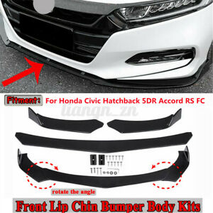 Glossy Car Front Bumper Splitter Lip For Honda CivicHatchback 5DR Accord Sedan