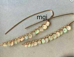 Natural Ethiopian Opal Earring Silver 925 Sterling Women's Fashion Jewelry New