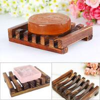 Wood Bathroom Wood Soap Dish Container Kitchen Sponge Storage Rack Soap Holder