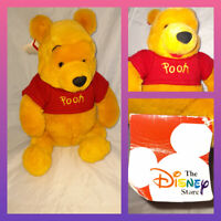 Vintage Winnie The Pooh Disney Store approx 13 Plush soft toy retro tag