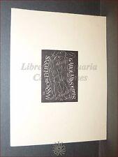 """EROTICA - Ex-Libris Originale Collezione Mario De Filippis """"Gaudeamus Igitur"""""""
