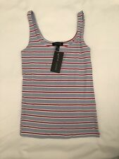 New Look Blue Stripe Vest Top New With Tags Size 8