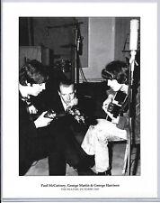 Paul McCartney, George Martin & George Harrison Limited Edition Art Print