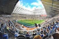 St James' Park Stadium Fine Art A4 Print - Newcastle United Football Club