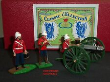 TROPHY Miniatures EQ44 Guerra Zulu Inglese 24TH piede Gatling Set Giocattolo Soldato