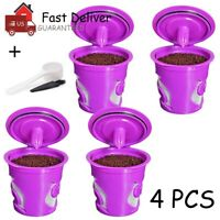Refillable Reusable K-Cup Coffee Filter Pod / Paper Cups for Keurig 2.0 1.0 US