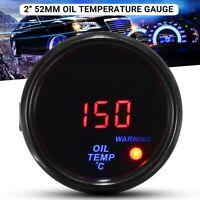 2'' 52MM Rouge Bleu LED Jauge de Température d'huile numérique Capteur Kit