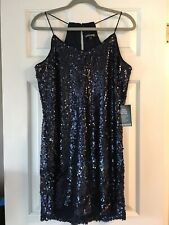 NEW WITH TAGS NAVY BLUE SEQUIN EXPRESS DRESS LARGE L