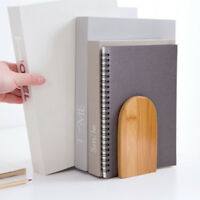 Delicate Anti-skid Bookend Shelf Holder Book Holder Wooden Stand Desk Organizer
