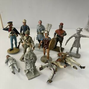 Vintage Cameo Alymer Deauville Valiant Rose Scruby Miniature Lot Soldiers Lead