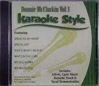 Donnie McClurkin Volume 1 Christian Karaoke Style NEW CD+G Daywind 6 Songs