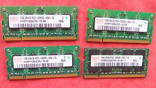 Lot of 4 1GB Hynix PC2-5300S DDR2 RAM memory HYMP112S64CP6-Y5 AB SODIMM 2Rx16