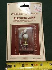 Vintage dollhouse Brass Globe Lamp Concord Miniatures 1:12 NOS 12 Volt