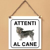 Glen of Imaal Terrier 1 Attenti al caneTarga cane cartello Ceramic Tiles