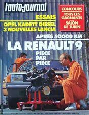 L' AUTO-JOURNAL n° 9 . 15 mai 1982 . Renault 9 après 50 000 km .