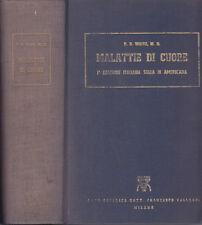 MEDICINA WHITE PAUL DUDLEY MALATTIE DI CUORE 1954 LIBRO