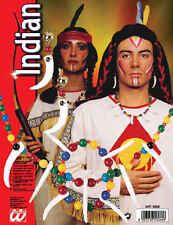 Bijoux indien rouge os dents collier boucles d'oreilles perles & bracelet pour hommes femmes