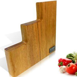 Messerblock magnetisch aus Akazien, Messerblock ohne messer. Doppelseitig!