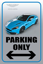 "Aston Martin 12""x18"" Full Color Auto Parking Sign"