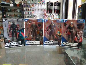 GI Joe Classified Major Bludd, Destro, Snake Eyes, Cobra Commander 4 Figure Lot!