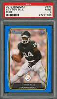 2013 bowman blue #123 LE'VEON BELL pittsburgh steelers rookie card PSA 9