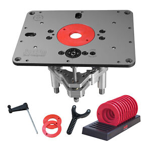 JessEm 02310 Rout-R-Lift II Router Lift and 10-Piece Insert Ring Set