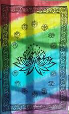 "Lotus Chakra Tapestry Blanket 72 x 108"" Wiccan Pagan Altar Supply WTLC"