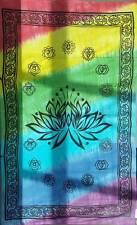 "Lotus Chakra Tapestry Blanket 72 x 108"" Wiccan Pagan Altar Supply WTLC"