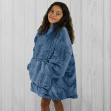 Hoodie Blanket by Snoogie Warm Double Layer 430gsm, Unisex Kids Size   Navy