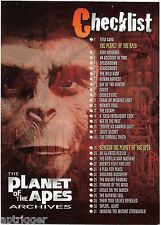1999 Inkworks PLANET of the APES (90) Checklist