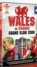 WALES VS FRANCE GRAND SLAM 2008 DVD RUGBY UNION  6 NATIONS