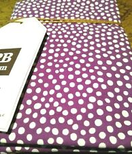 Pottery Barn Dorm Mini Dot Standard Sham Plum / Purple + White  26 x 20 NWT