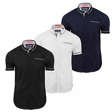 Brave Soul Men's Short Sleeve Collared Casual Shirts & Tops