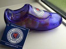 RANGERS FC FOOTBALL BOOT(MONEY BOX) INC JELLY BEANS BLUE CLEAR PLASTIC