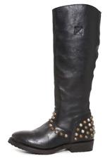 ASH Womens Black Studded Side Zip Leather Boots Sz 36 EUR 3364 *