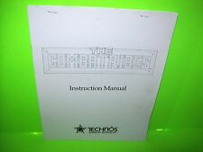 The COMBATRIBES By Technos 1990 ORIGINAL VIDEO ARCADE GAME Instruction MANUAL