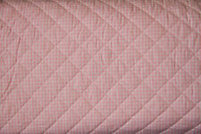 Pink Gingham 100% Cotton PRE-QUILTED Fabric- 10 YARDS