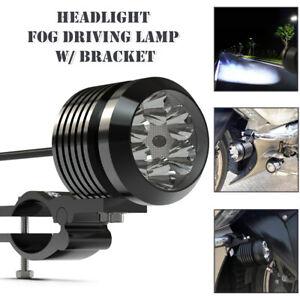 6000LMW Motorcycle Scooter LED Light Headlight Fog Driving Lamp Lights w/Bracket
