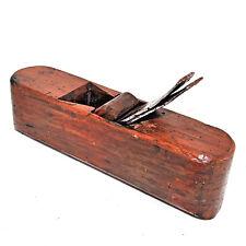 Outil ancien petit rabot de menuisier semelle arrondie XIXème